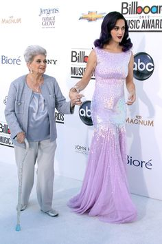 Katy Perry brought her grams to the Billboard Music Awards. We see that her love for sparkles is genetic!    Photo: Rex USA