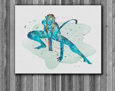 Avatar Poster James Cameron   watercolor Art by digitalaquamarine