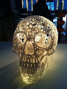 filagree skull at sunset