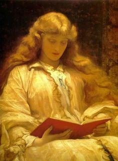 The Girl with Golden Hair - Frederic Leighton