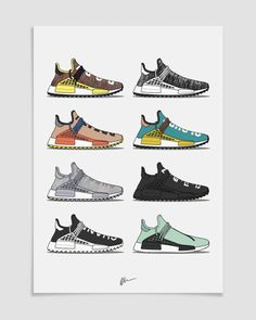 HU NMD Collection is part of Sneakers wallpaper - Sneakers Wallpaper, Shoes Wallpaper, Adidas Human Race, Sneaker Posters, Cartoon Shoes, Addidas Sneakers, Shoes Sneakers, Sneakers Sketch, Shoe Poster