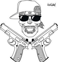 Skull Gangster Tattoo Drawings | photo