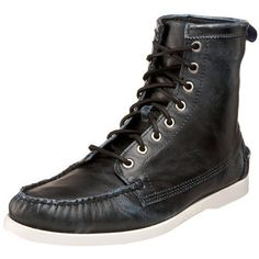 """Sebago Men's Lighthouse Ankle Boot Sebago. $52.45. leather. Leather Upper. Non-slip Rubber Outsole. Padded Footbed. Rubber sole. Shaft measures approximately General"""" from arch"""