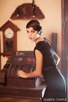 Espinela Dress, shooting recreating 1920s fashion