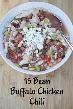 Buffalo Chicken 15 Bean Soup on 5DollarDinners.com
