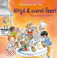 Altijd en overal feest: Kinderkookboek van Maureen du Toit. Bij elk feest hoort een lekkere traktatie. Maureen du Toit (SBS-presentator) heeft voor elke maand een internationaal feestrecept uitgezocht. #kinderdiner #kookboek #kinderen #kinderkookboek #recepten #kinderfeestje