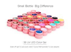 36W UV Lamp 36 Colors UV Gel Nail polish Art Tools polish nail Set Kit building. Click visit to buy #Nail #Tool #NailTool