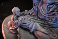ArtStatio n - 一念之间Budd ha or devil , Qi Sheng Luo Sculpture Art, Sculptures, Buddhist Philosophy, Buddhist Art, Devil, Statue, Abstract, Artist, Artwork