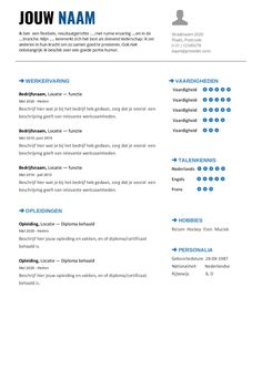 CV Template te gebruiken in Google docs en Microsoft Office Cv Template, Templates, Slowcooker, Google Docs, Microsoft Office, Resume, Seeds, Stencils, Resume Templates