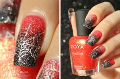 Halloween Spiderwebs - A diary of a nail polish addict