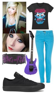 """""""Emo"""" by lea113111 ❤ liked on Polyvore featuring мода, Morgan и Converse"""