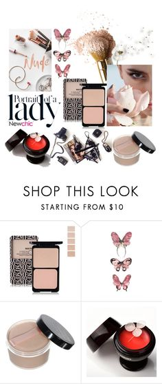 """""""Nude beauty - Newchic19"""" by mell-m ❤ liked on Polyvore featuring beauty and Inez & Vinoodh"""