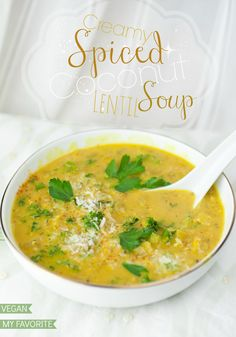 Might not be kid friendly - but is so yummy and actually not too hard to make. Creamy Spiced Coconut Lentil Soup