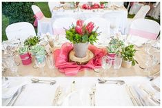 Elegant Rustic theme-southbound-bride-real-wedding-the-bridge-muldersdrift-melanie-wessels-protea-themed-rustic-table-decor Marriage Dress, Love And Marriage, Table Centerpieces, Centrepieces, Wedding Decorations, Table Decorations, Wedding Ideas, Protea Wedding, Daytime Wedding
