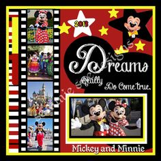 Digital Disneyland Scrapbook Page Instant by SammieSueDesigns