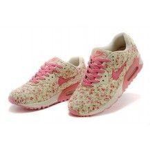 Nike Air Max 90 Floral Print Womens Peach Flower