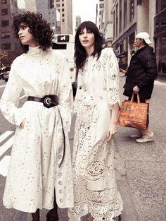 uptown girls: mica arganaraz, niki trefilova and julia nobis by glen luchford for vogue paris march 2015