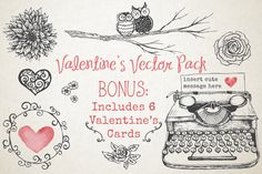 Valentine's Vector Pack by Knotted Design on Creative Market