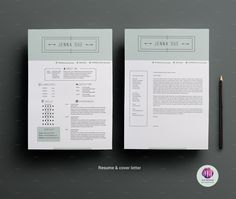 Modern resume template by Chic templates on Creative Market