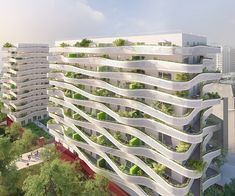 Hotel Design Architecture, Plans Architecture, Bamboo Architecture, Chinese Architecture, Modern Architecture House, Architecture Portfolio, Futuristic Architecture, Modern Buildings, Amazing Architecture