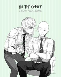 One Punch Man - Genos and Saitama