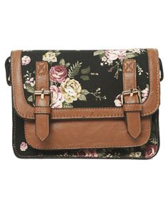 backpacks and bags · Floral Structured Crossbody Bag from Wet Seal💛❤ 💛❤  💛❤️ 777c0a1967e1d