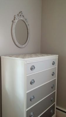 Hydrangeas and Harmony: Gray Ombre Dresser Painted Baby Furniture, New Furniture, Furniture Makeover, Furniture Ideas, Painted Drawers, Diy Drawers, Dresser Drawers, Dressers, Boy Dresser