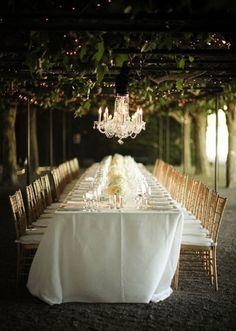 Winery Arbor Wedding Reception hung with Crystal Chandeliers | Alisha + Brook Photographers | See More! http://heyweddinglady.com/secrets-of...