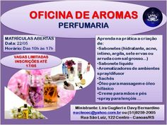 Aromas do Cumbuco: OFICINA DE AROMAS! VAGAS LIMITADAS!