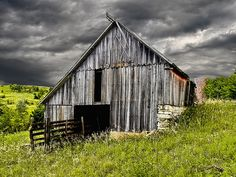 Barn matches the sky