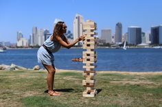 The Hammer Crown brand giant tumble tower is truly a work or art as well as a fun game to play. First off, the wood is cut from sustainable sources which is a bonus. Backyard Games, Outdoor Games, Outdoor Activities, Fun Games, Games To Play, Party Games, Awesome Games, Team Games, Tower Games