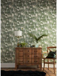 Julien Macdonald Honolulu Palm Green Wallpaper | very.co.uk