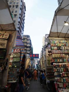 Famous Ladies Market in Mong Kok, lined on both side with vendors selling knick-knack and souvenirs Ladies Market, Lamma Island, Game Arena, Knick Knack, Rock Pools, 1 Day, Great Photos, Time Travel, Hong Kong