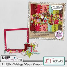 free digi scrapbook supply Free Digital Scrapbooking, Little Christmas, Scrapbook Supplies, Gingerbread Man, Printables, Paper, Frame, Crafts, Design