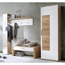 Garderobe cubus von team7 mit gro em spiegel garderobe for Schmaler hoher beistelltisch