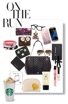 """""""Spring 2017 What's In My Bag Edition"""" by andreamartin24601 on Polyvore featuring Lanvin, Happy Plugs, STELLA McCARTNEY, Marc Jacobs, Burberry, Ray-Ban, Samsung, Shinola, Montblanc and Victoria's Secret"""