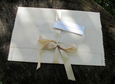 Fabric invitation holders- so pretty