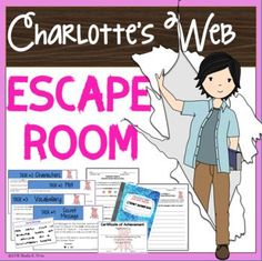 Escape Rooms have become all the rage...and for good reason! They are highly-engaging activities that allow students to deepen their understanding of content. It's a win-win situation for all! This ESCAPE ROOM is designed to be used after reading the novel, CHARLOTTE'S WEB
