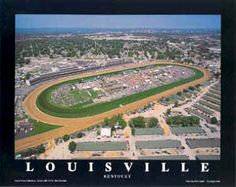LOUISVILLE Churchill Downs KENTUCKY DERBY Race Day Poster - available at www.sportsposterwarehouse.com