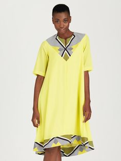 6202f22abf4c Leigh Schubert Penn Trapeze Dress Yellow | spree.co.za Yellow Dress, Girl