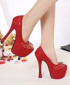 Girls pumps fashion metal decorative stud shoes | LUUUX