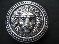 ROMAN FOUNTAIN LION HEAD ANIMAL CIRCUS 3D BELT BUCKLE