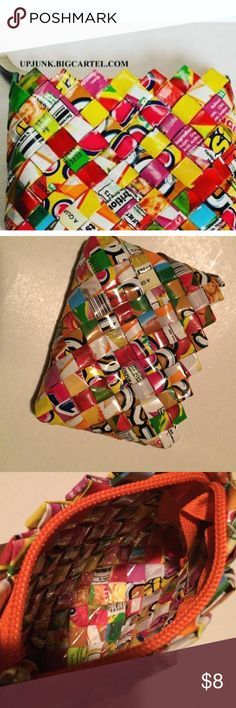 Candy Change Wallet!  Super cute! Creative Recycle Art piece. Colorful and an eye catcher. Make your purse happy. Bags Wallets