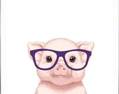 Pig Art Pig Painting Pig Print Pig Illustration Painting Animal Painting Print P. Pig Wallpaper, Animal Wallpaper, Farm Paintings, Animal Paintings, Cute Drawings, Animal Drawings, Pig Sketch, Pig Drawing, Pig Illustration
