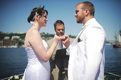 Sealing the vows with a pinky swear.