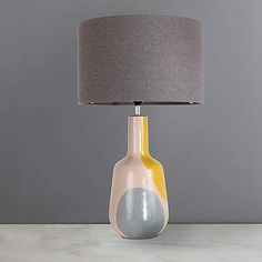 Elements Zadar Dipped Grey Table Lamp | Dunelm