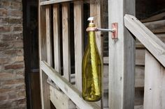 10 Upcycled Wine Bottles Turned Home Accessories