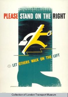 Poster - Poster and Artwork collection online from the London Transport Museum Posters Uk, Safety Posters, Funny Advertising, London Underground Stations, London Transport Museum, Funny Feeling, London Poster, Graphic Design Posters, Graphic Art