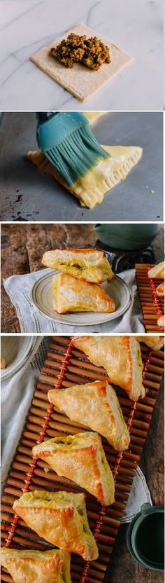 (Could easily make with tofu or mock beef) Chinese Curry Puffs recipe by the Woks of Life Appetizer Recipes, Snack Recipes, Cooking Recipes, Snacks, Oven Recipes, Indian Food Recipes, Asian Recipes, Woks, Puff Pastry Recipes