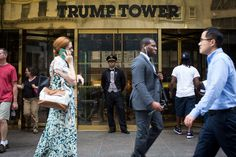 Donald Trump works and often sleeps in the penthouse on the 66th floor of Trump Tower in Midtown Manhattan, when he's not staying at one of his other homes. Description from nytimes.com. I searched for this on bing.com/images